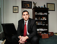 "PHILADELPHIA - NOVEMBER 22:  Democratic Candidate for Congress Bryan Lentz poses for a photo in his office November 22, 2005 in Philadelphia, Pennsylvania. Lentz is one of the ""fighting Dems"" -- a group of Iraq War veterans running.for Congress as Democrats -- seek to change the debate in Washington. (Photo by William Thomas Cain/Getty Images for the Boston Globe)"
