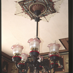 Victorian Chandelier at Ann Starrett Mansion, Port Townsend, Washington, US