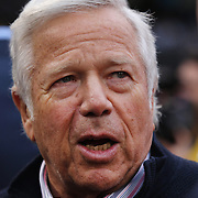 New England Patriots owner Robert Kraft on the sideline before the New York City FC v New England Revolution, inaugural MSL football match at Yankee Stadium, The Bronx, New York,  USA. 15th March 2015. Photo Tim Clayton