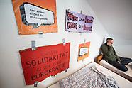Activists seize airbnb flat, Berlin