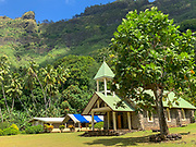 Vaitahu Village, Tahuata, Marquesas; French Polynesia; South Pacific