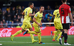 January 20, 2019 - Vila-Real, Castellon, Spain - Villarreal players celebrates a goal during the La Liga Santander match between Villarreal and Athletic Club de Bilbao at La Ceramica Stadium on Jenuary 20, 2019 in Vila-real, Spain. (Credit Image: © AFP7 via ZUMA Wire)