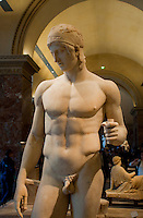 Male statue from the Greek Statuary at the Louvre, Paris