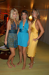 Left to right, MARISSA MONTGOMERY, VIOLET VON WESTENHOLTZ and OLIVIA BUCKINGHAM at a fashion show by ISSA held at Cocoon, 65 Regent Street, London on 21st September 2005.<br /><br />NON EXCLUSIVE - WORLD RIGHTS