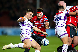 Ben White of Leicester Tigers kicks the ball under pressure - Mandatory by-line: Robbie Stephenson/JMP - 16/11/2018 - RUGBY - Kingsholm - Gloucester, England - Gloucester Rugby v Leicester Tigers - Gallagher Premiership Rugby