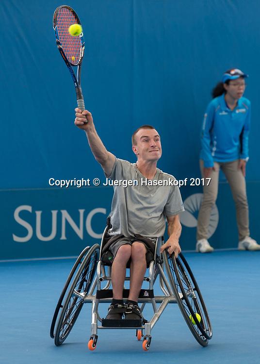 HENRY DE CURE (AUS), Rollstuhl Tennis<br /> <br /> Tennis - Brisbane International  2017 - ITF -  Pat Rafter Arena - Brisbane - QLD - Australia  - 6 January 2017. <br /> &copy; Juergen Hasenkopf