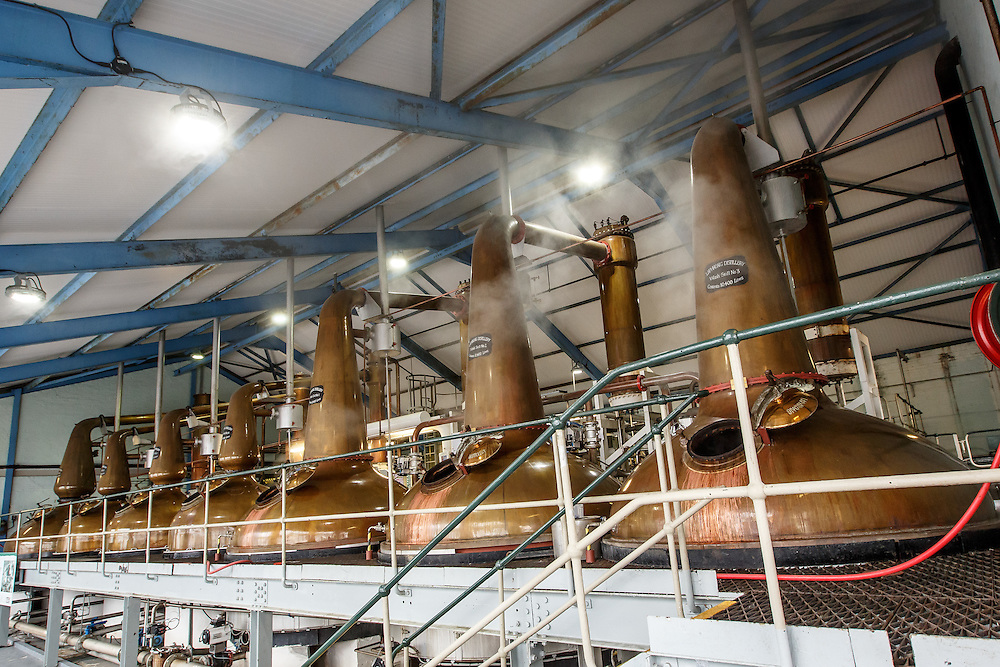 The stills at Laphroaig Distillery at Port Ellen, Isle of Islay, Scotland, July 17, 2015. Gary He/DRAMBOX MEDIA LIBRARY