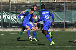 February 17, 2018 - St Ouen, France, France - Florian Sotoca (Grenoble) vs Matthieu Fontaine  (Credit Image: © Panoramic via ZUMA Press)