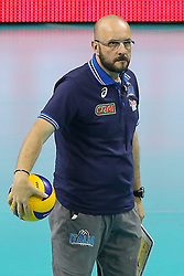 06.09.2014, Krakow Arena, Krakau, POL, FIVB WM, Puerto Rico vs Italien, Gruppe D, im Bild Trener Mauro Berruto (ITA) // during the FIVB Volleyball Men's World Championships Pool D Match beween Puerto Rico and Italy at the Krakow Arena in Krakau, Poland on 2014/09/06. EXPA Pictures &copy; 2014, PhotoCredit: EXPA/ Newspix/ Tomasz Jastrzebowski<br /> <br /> *****ATTENTION - for AUT, SLO, CRO, SRB, BIH, MAZ, TUR, SUI, SWE only*****