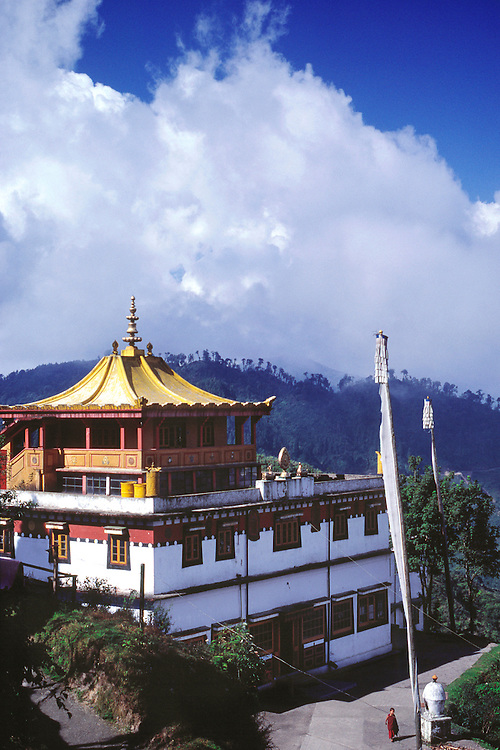 The Yellow Sect Buddhist monastery of Ghoom is near Darjeeling in northern India.