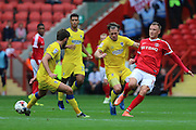 AFC Wimbledon midfielder Dannie Bulman (4) during the EFL Sky Bet League 1 match between Charlton Athletic and AFC Wimbledon at The Valley, London, England on 17 September 2016. Photo by Stuart Butcher.