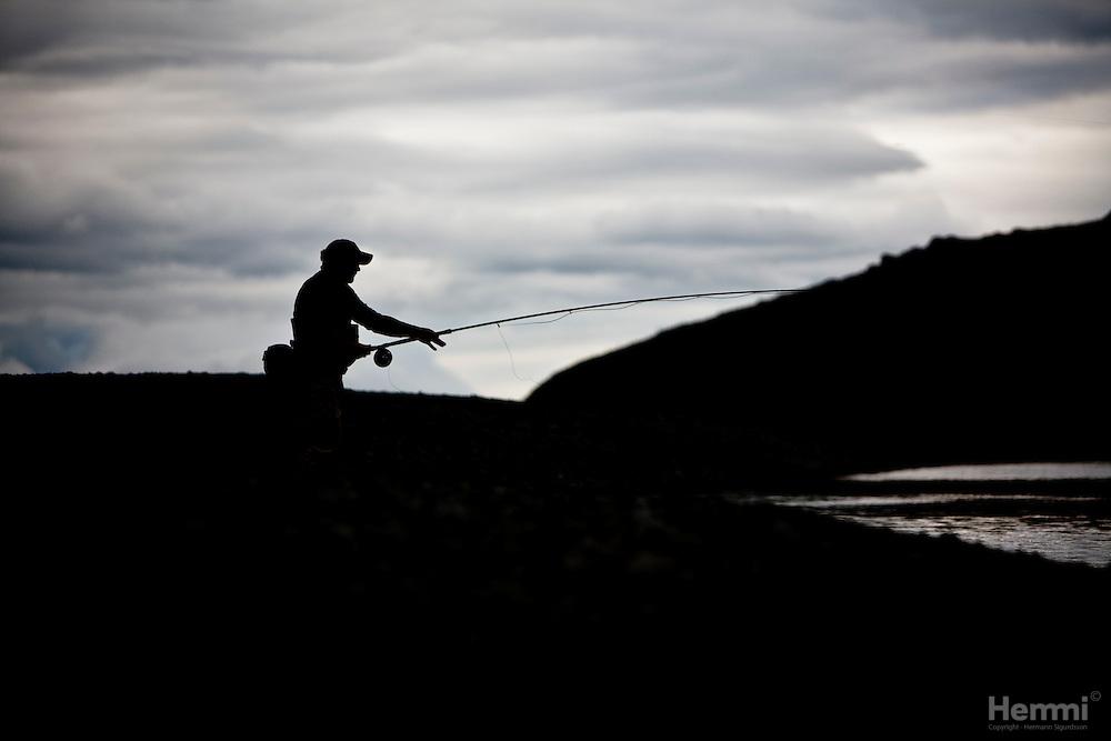 Fishing in Jökla