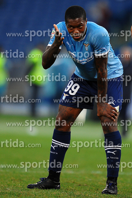 06.11.2011, Olympia Stadion, Rom, ITA, Serie A, Lazio Rom vs FC Parma, im Bild  Djibril CISSE' Lazio // during the Serie A match between Lazio Rom and FC Parma at Olympic Stadium, Rom, Italy on 06/11/2011. EXPA Pictures © 2011, PhotoCredit: EXPA/ InsideFoto/ Andrea Staccioli +++++ ATTENTION - FOR AUSTRIA/(AUT), SLOVENIA/(SLO), SERBIA/(SRB), CROATIA/(CRO), SWISS/(SUI) and SWEDEN/(SWE) CLIENT ONLY +++++