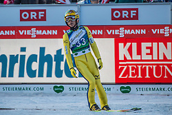 10.01.2015, Kulm, Bad Mitterndorf, AUT, FIS Ski Flug Weltcup, Bewerb, im Bild Noriaki Kasai (JPN) // reacts after his Competition Jump of the FIS Ski Flying World Cup at the Kulm, Bad Mitterndorf, Austria on 2015/01/10, EXPA Pictures © 2015, PhotoCredit: EXPA/ Dominik Angerer