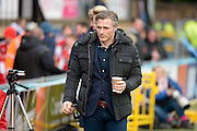 Gareth Ainsworth manager of Wycombe Wanderers during the Sky Bet League 2 match between Wycombe Wanderers and Bristol Rovers at Adams Park, High Wycombe, England on 27 February 2016. Photo by Dennis Goodwin.