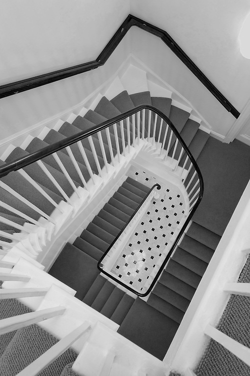 andy spain architectural photography looking down stairs