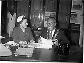 1959 - Lord Mayor of Dublin, Philip Brady at the Mansion House