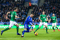 James Maddison of Leicester City runs at the Brighton and Hove Albion defence - Mandatory by-line: Robbie Stephenson/JMP - 26/02/2019 - FOOTBALL - King Power Stadium - Leicester, England - Leicester City v Brighton and Hove Albion - Premier League
