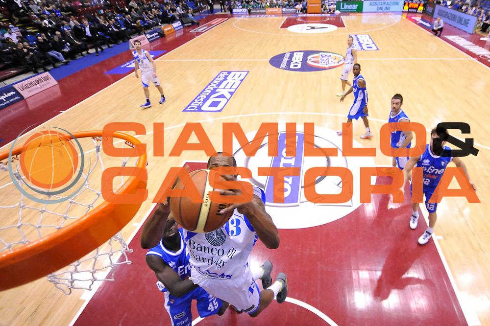 DESCRIZIONE : Milano Coppa Italia Final Eight 2013 Quarti di Finale Banco di Sardegna Sassari Enel Brindisi<br /> GIOCATORE : Tony Easley<br /> CATEGORIA : special rimbalzo<br /> SQUADRA : Banco di Sardegna Sassari Enel Brindisi<br /> EVENTO : Beko Coppa Italia Final Eight 2013<br /> GARA : Banco di Sardegna Sassari Enel Brindisi<br /> DATA : 08/02/2013<br /> SPORT : Pallacanestro<br /> AUTORE : Agenzia Ciamillo-Castoria/C.De Massis<br /> Galleria : Lega Basket Final Eight Coppa Italia 2013<br /> Fotonotizia : Milano Coppa Italia Final Eight 2013 Quarti di Finale Banco di Sardegna Sassari Enel Brindisi<br /> Predefinita :