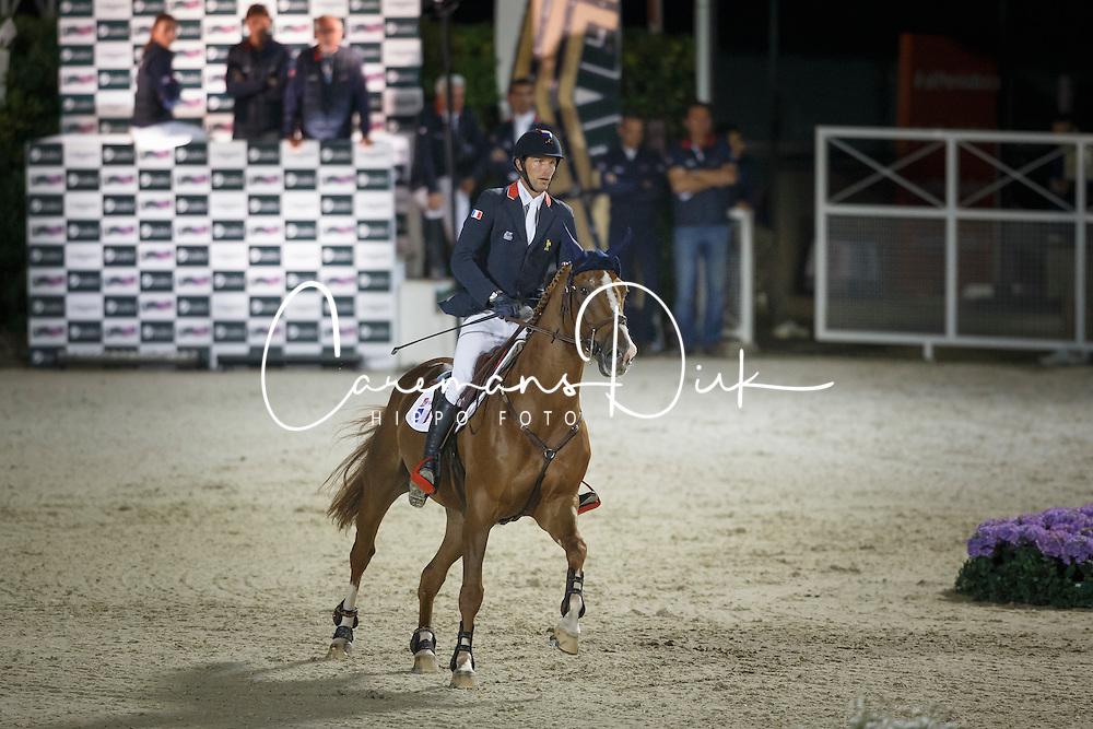 Staut Kevin, (FRA), Reveur de Hurtebise HDC, FEI President<br /> Logines Challenge Cup<br /> Furusiyya FEI Nations Cup Jumping Final - Barcelona 2015<br /> &copy; Dirk Caremans<br /> 25/09/15