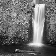 Multnomah Lower Falls - Columbia Gorge, Oregon - Infrared Black & White