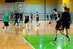 Jaka Blazic of Cedevita Olimpija at practice session of team KK Cedevita Olimpija on January 28, 2020 in Arena Stozice, Ljubljana, Slovenia. Photo By Grega Valancic / Sportida