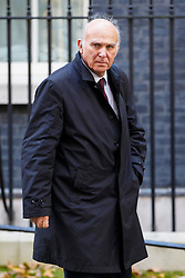 © Licensed to London News Pictures. 21/10/2014. LONDON, UK. Business Secretary Vince Cable attending to a cabinet meeting in Downing Street on Tuesday, 21 October 2014. Photo credit: Tolga Akmen/LNP