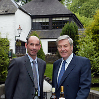 FREE TO USE PIC....Scotch whisky distiller Edrington, maker of The Famous Grouse, today (Tuesday 27th May) announced that its operations director Ian Curle (left) has been selected to succeed Ian Good (right) as chief executive when the<br />latter steps down from the role next April. In the meantime, Mr. Curle will assume the role of deputy chief executive<br />with immediate effect. Aged 41, and an honours graduate of Glasgow University, Mr. Curle is the youngest chief executive in Edrington's 150 year history. Edrington said that Mr. Curle would work closely with Mr Good prior to becoming chief executive at the start of the group's new financial year,<br />from which time Mr. Good, presently chairman and chief executive, would become executive chairman. Mr. Good (59), who is also chairman of the Scotch Whisky Association and one of the industry's best known figures, has been chief executive of Edrington since 1989.<br />For further information, contact: Emrys Inker, corporate affairs director, The Edrington Group. Tel: 01738 493781 or 07776164411<br /><br />Picture by Graeme Hart.<br />Copyright Perthshire Picture Agency<br />Tel: 01738 623350  Mobile: 07990 594431