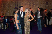 Frankie Sandford; Wayne Bridge;  Mollie King; , Dinner and party  to celebrate the launch of the new Cavalli Store at the Battersea Power station. London. 17 September 2011. <br /> <br />  , -DO NOT ARCHIVE-© Copyright Photograph by Dafydd Jones. 248 Clapham Rd. London SW9 0PZ. Tel 0207 820 0771. www.dafjones.com.