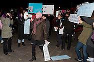 """Roma  25 Novembre 2013<br /> Un gruppo di donne  al grido  """"siamo tutte Pussy Riot"""", ha contestato  il Presidente Vladimir Putin all'arrivo al Quirinale  <br /> Rome November 25, 2013<br /> A group of women shouting """"We are all Pussy Riot"""", challenged President Vladimir Putin's arrival at the Quirinale palace"""