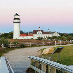 Cape Cod Lighthouse, a.k.a. Highland Light, in the Cape Cod National Seashore. Truro Massachusetts.