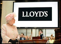 HM The Queen and the Duke of Edinburgh visit  Lloyds of London in the City of London, United Kingdom. Thursday, 27th March 2014. Picture by Andrew Parsons / i-Images