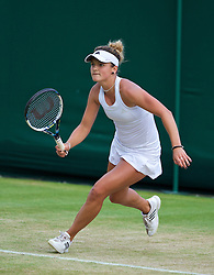 LONDON, ENGLAND - Saturday, June 28, 2014: Dasha Ivanova (USA) during the Girls' Singles 1st Round match on day six of the Wimbledon Lawn Tennis Championships at the All England Lawn Tennis and Croquet Club. (Pic by David Rawcliffe/Propaganda)