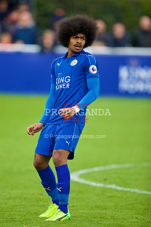 LEICESTER, ENGLAND - Easter Monday, April 17, 2017: Leicester City's Hamza Choudhury in action against Liverpool during the Under-23 FA Premier League 2 Division 1 match at Holmes Park. (Pic by David Rawcliffe/Propaganda)