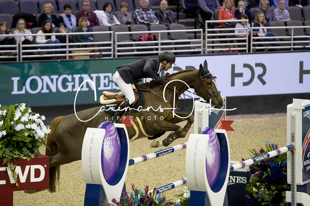 Duguet Romain, SUI, Twentytwo Des Biches<br /> Round 1<br /> Longines FEI World Cup Jumping Final, Omaha 2017 <br /> &copy; Hippo Foto - Dirk Caremans<br /> 31/03/2017