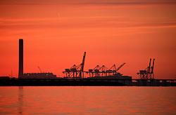 UNITED KINGDOM MEDWAY 22JUN09 - Coal-fired power station and docking facilities at Tilbury docks, Essex, England.....jre/Photo by Jiri Rezac / Greenpeace....© Jiri Rezac 2009
