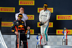 June 24, 2018 - Le Castellet, Var, France - Mercedes 44 Driver LEWIS HAMILTON (GBR) win the Formula one French Grand Prix at the Paul Ricard circuit at Le Castellet - France, Max Verstappen finish second and Kimi Raikkonen third. (Credit Image: © Pierre Stevenin via ZUMA Wire)