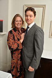 VISCOUNTESS GORMANSTON and FREDDIE FOX at a lunch to promote the jewellery created by Luis Miguel Howard held at Morton's, Berkeley Square, London on 20th October 2016.