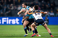 SYDNEY, AUSTRALIA - JUNE 08: Waratahs player Adam Ashley-Cooper (13) looks to pass the ball at week 17 of Super Rugby between NSW Waratahs and Brumbies on June 08, 2019 at Western Sydney Stadium in NSW, Australia. (Photo by Speed Media/Icon Sportswire)