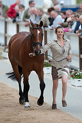 Sarah Bullimore (GBR) - My Last One <br /> Vet inspection - CCI4* Luhmühlen 2012<br /> © Hippo Foto - Jon Stroud