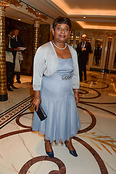 BARONESS LAWRENCE OF CLARENDON at the inaugural Stephen Lawrence Memorial Ball held at The Dorchester, Park Lane, London on 17th October 2013.