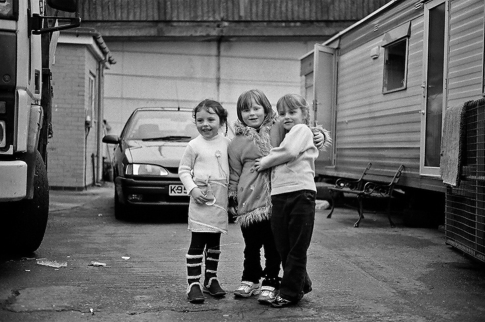 Irish Travellers living on the site under the Westway, West London. These pictures were taken in 2004