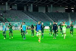 Players of Olimpija after the football match between NK Olimpija Ljubljana and NK Celje in 3rd Round of Prva liga Telekom Slovenije 2018/19, on Avgust 05, 2018 in SRC Stozice, Ljubljana, Slovenia. Photo by Vid Ponikvar / Sportida