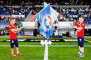 28-08-2015 VOETBAL:WILLEM II- NEC NIJMEGEN:TILBURG<br /> <br /> Sfeer Willem II stadion met vlaggen bij de opkomst van de ballenjongens<br /> <br /> Foto: Geert van Erven