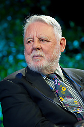 © London News Pictures. 31/05/2015. Hay-on-Wye, Powys, Wales, UK. Terry Waite talks to Helena Kennedy on the last day of the Hay Festival. Photo credit : Graham M. Lawrence/LNP.