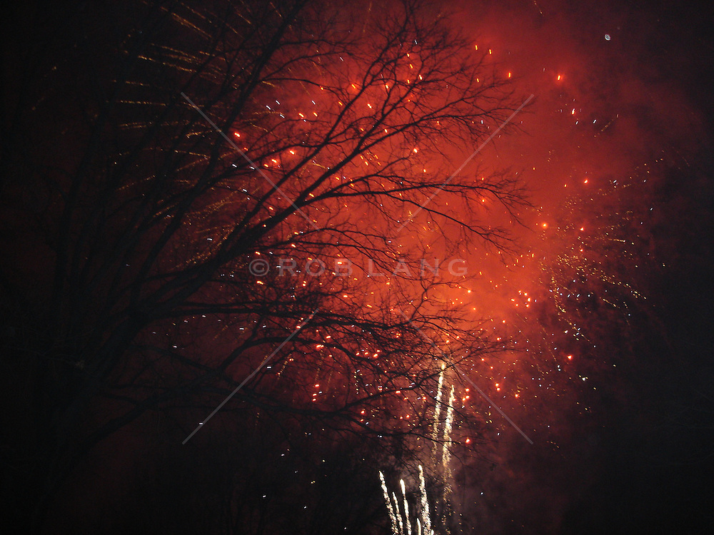 New Years Eve Fireworks over Central Park in New York City