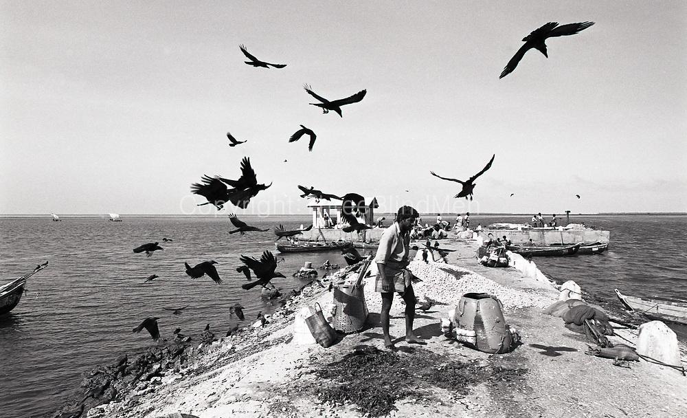 Jaffna. Fishing harbour pier. 1998.