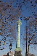 France. Paris . 4th district. Place de la Bastille