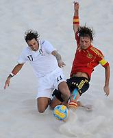 FIFA BEACH SOCCER WORLD CUP 2008 ITALY - SPAIN  26.07.2008 Paolo PALMACCI (ITA, l) against AMARELLE (ESP).