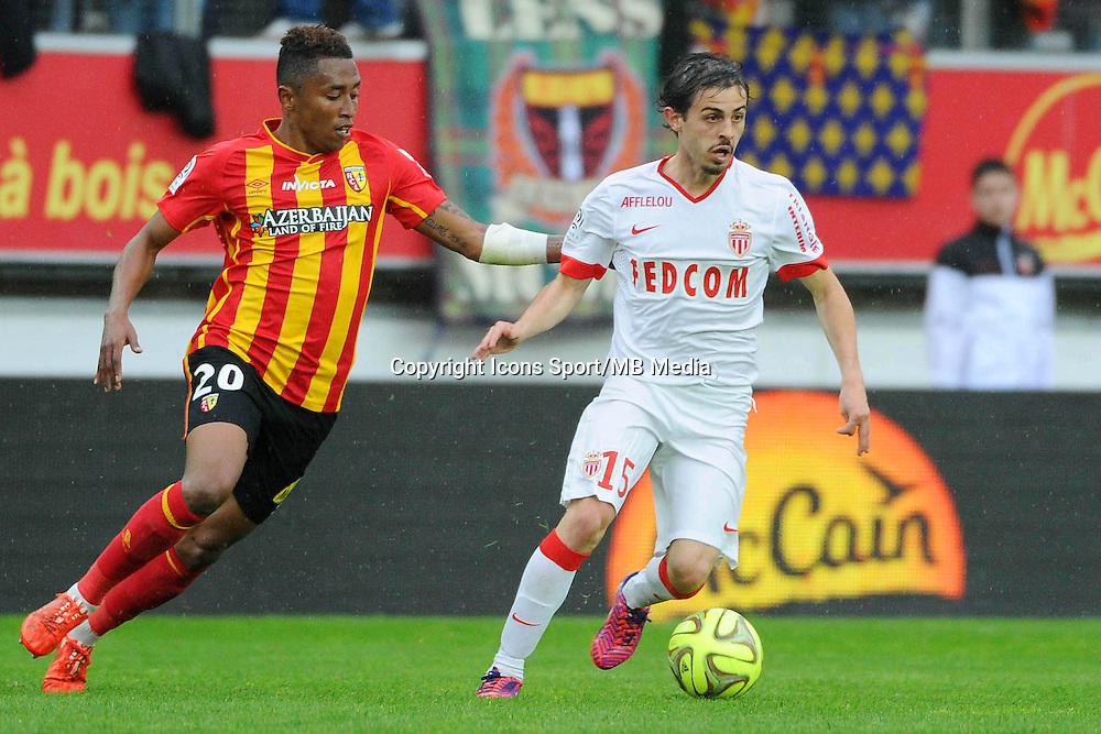 Lalaina NOMENJANAHARY / Bernardo SILVA - 26.04.2015 - Lens / Monaco - 34eme journee de Ligue 1<br />Photo : Nolwenn Le Gouic / Icon Sport